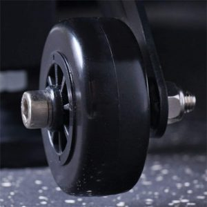 8- xmfitness-curve-racer-treadmill wheel close up view